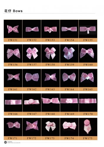 Bra satin ribbon bows 7